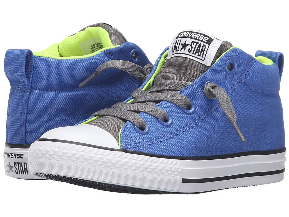 Converse Kids - Chuck Taylor All Star Street Mid (Little Kid/Big Kid) (Oxygen Blue/Volt/White) Boys Shoes