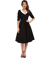 Unique Vintage - 3/4 Sleeve Eva Marie Swing Dress