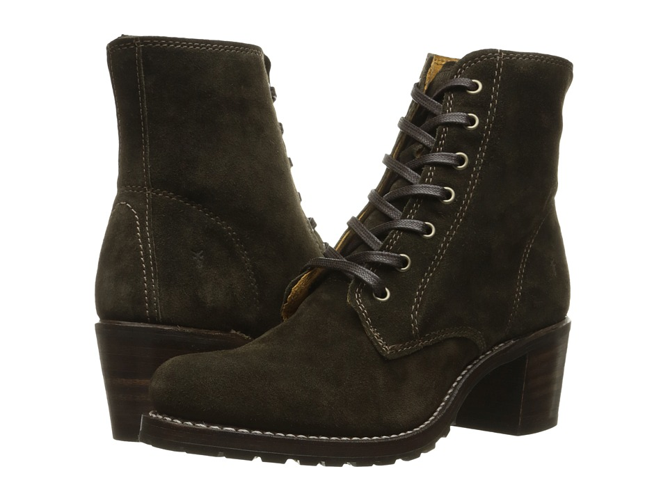 Frye Sabrina 6G Lace Up (Fatigue Oiled Suede)