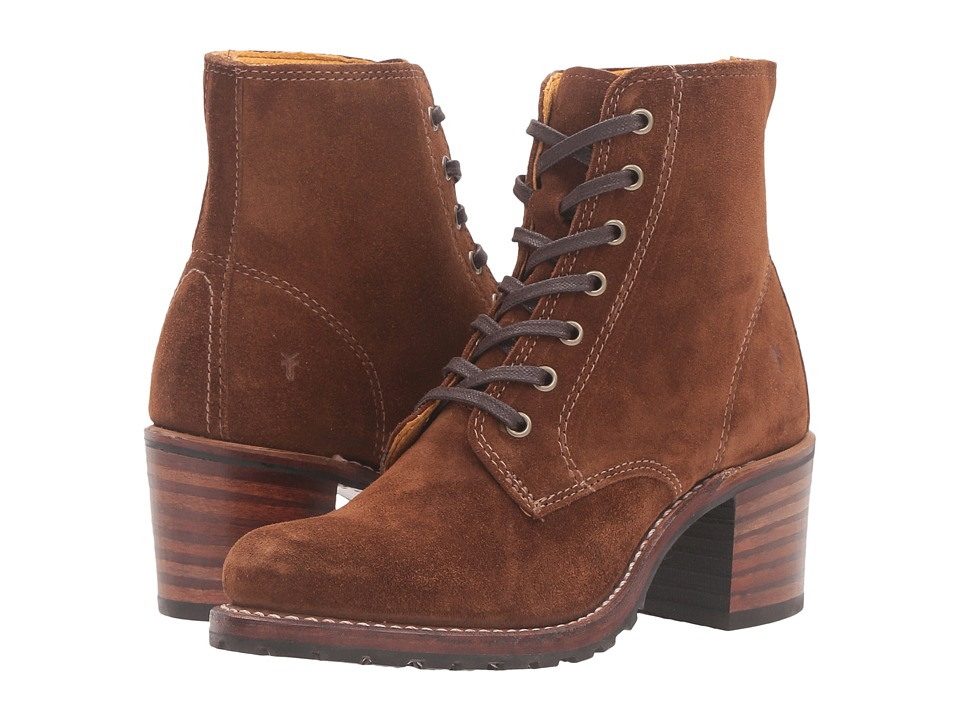 Frye Sabrina 6G Lace Up (Wood Oiled Suede)