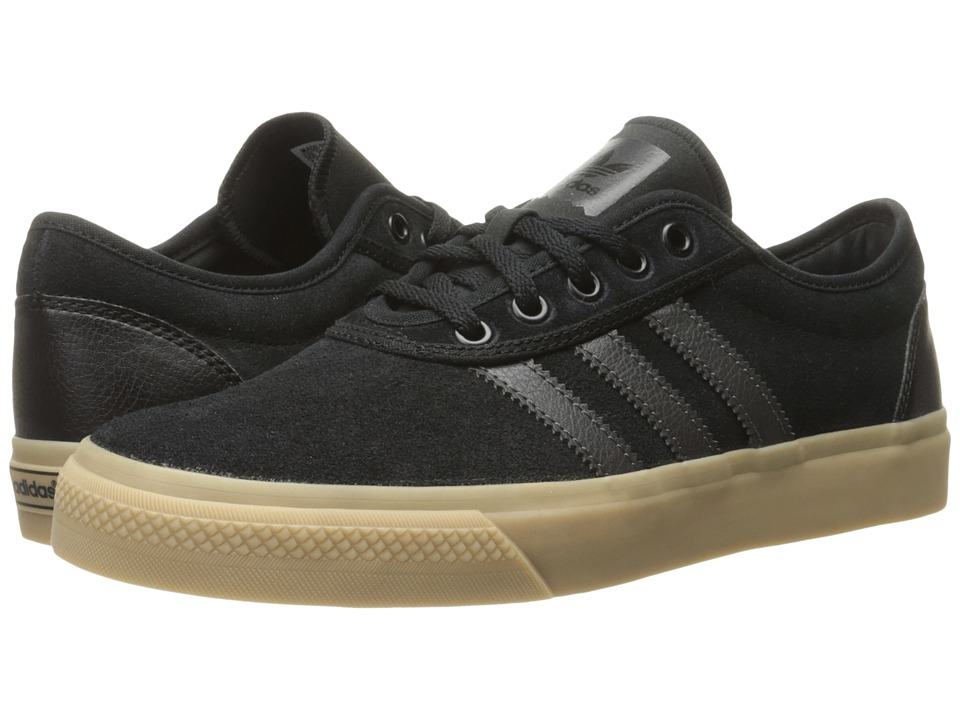 Image of adidas Skateboarding - Adi-Ease (Black/DGH Solid Grey/Gum4) Men's Skate Shoes