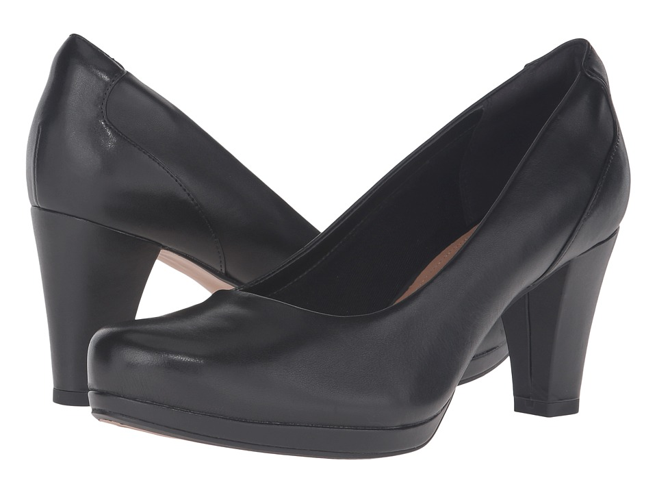 Clarks Chorus Chic (Black Leather) Women