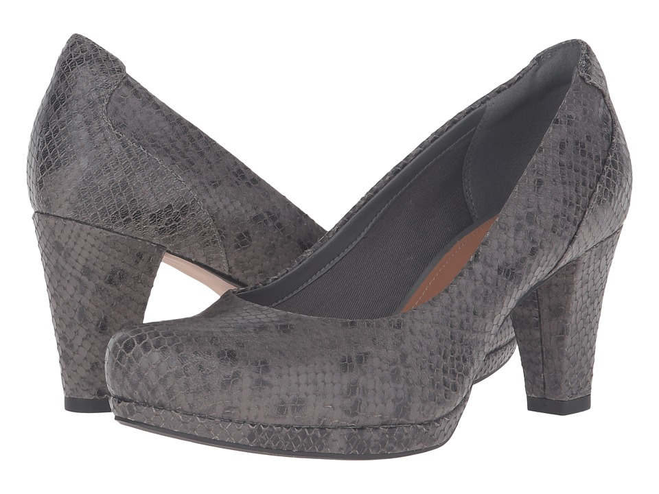 Clarks - Chorus Chic (Taupe Snake Leather) Women