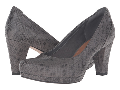 Clarks Chorus Chic - Taupe Snake Leather