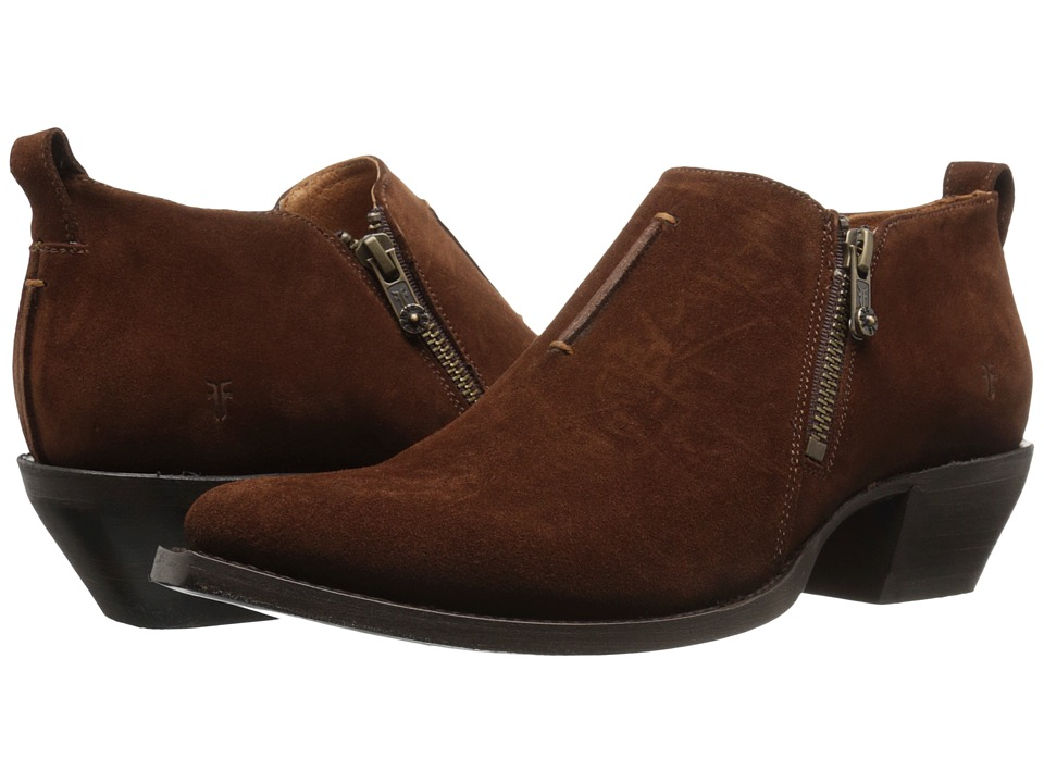 Frye Sacha Moto Shootie (Brown Oiled Suede) Women