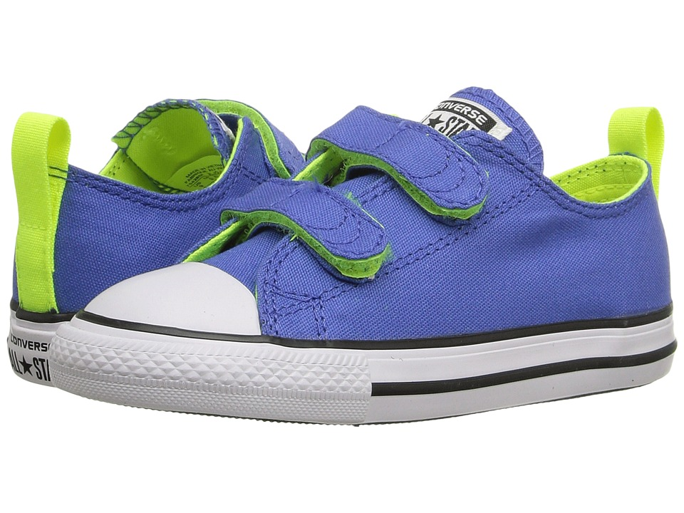 Converse Kids - Chuck Taylor All Star 2V Ox (Infant/Toddler) (Oxygen Blue/Volt/White) Boys Shoes