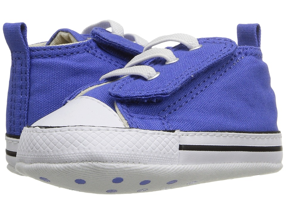 Converse Kids - Chuck Taylor First Star Easy Slip Hi (Infant/Toddler) (Oxygen Blue/Black/White) Boys Shoes
