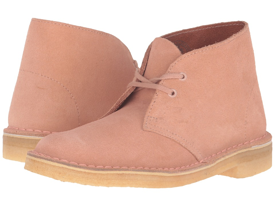 Clarks Desert Boots (Dusty Pink Suede)