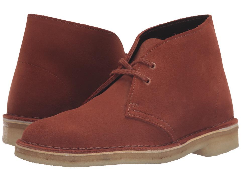 Clarks Desert Boot (Dark Tan Suede) Women