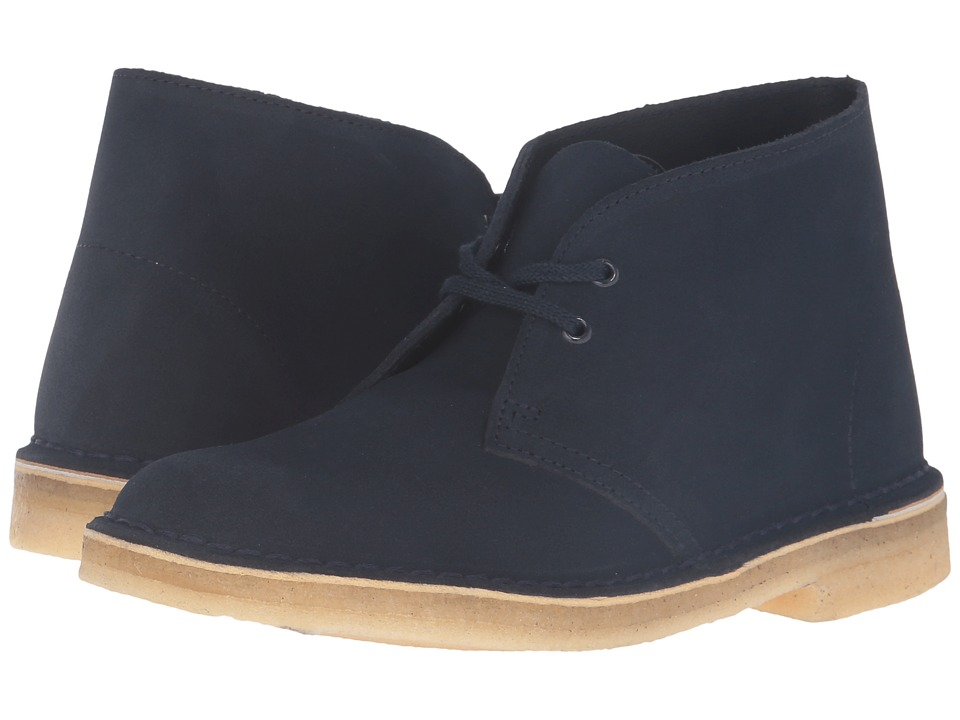 Clarks Desert Boots (Dark Navy Suede)