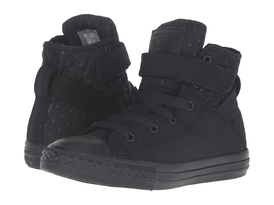 Converse Kids - Chuck Taylor All Star Brea Hi (Little Kid/Big Kid) (Black/Black/Black) Girl