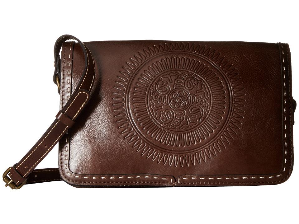 Patricia Nash Bari Square Flap Brown Bags