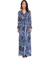 Adrianna Papell - Printed Maxi Dress with Ruffle Sleeve