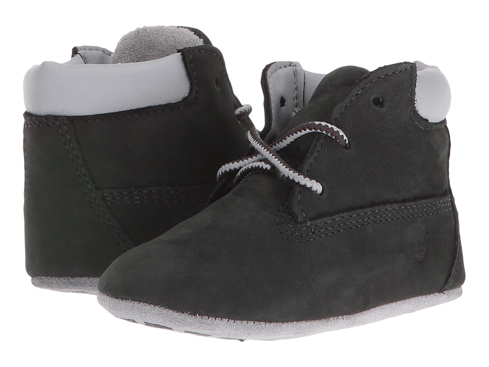 Timberland Kids Crib Bootie with Hat (Infant/Toddler) (Black Nubuck) Kid's Shoes