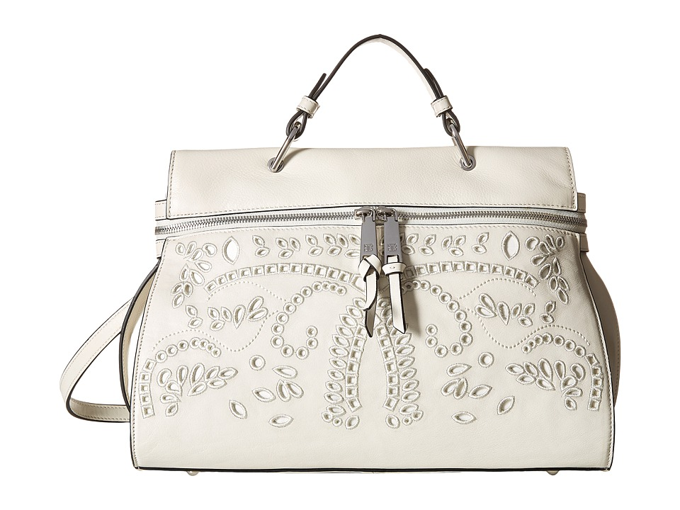 Ivanka Trump - Harper Satchel (Dove Eyelet Leather) Satchel Handbags