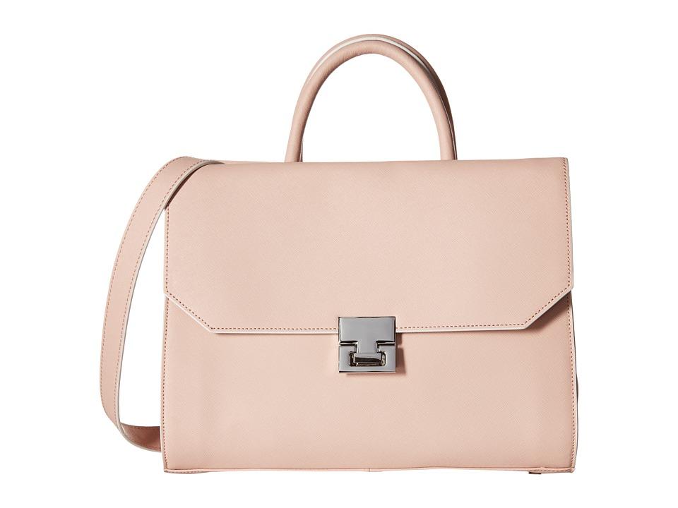 Ivanka Trump - Hopewell Satchel (Rose Cross Grain Leather) Satchel Handbags