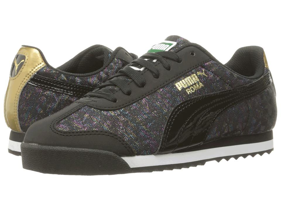 Puma Kids - Roma Basic Gleam Jr (Big Kid) (Puma Black/Puma Black) Girls Shoes