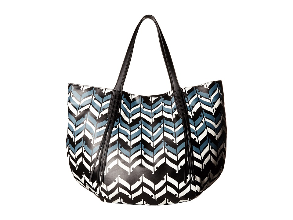 Ivanka Trump - Hudson Double Shoulder (Chevron Chevron Non Leather) Shoulder Handbags
