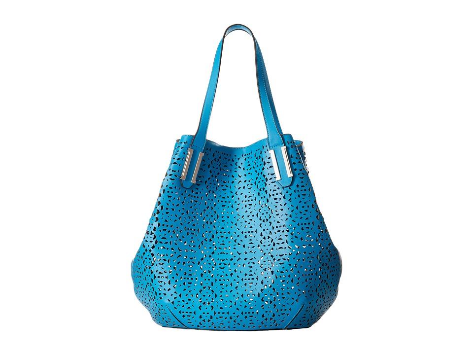 Ivanka Trump - Hudson Double Shoulder (Vivid Blue Lasercut Non Leather) Shoulder Handbags