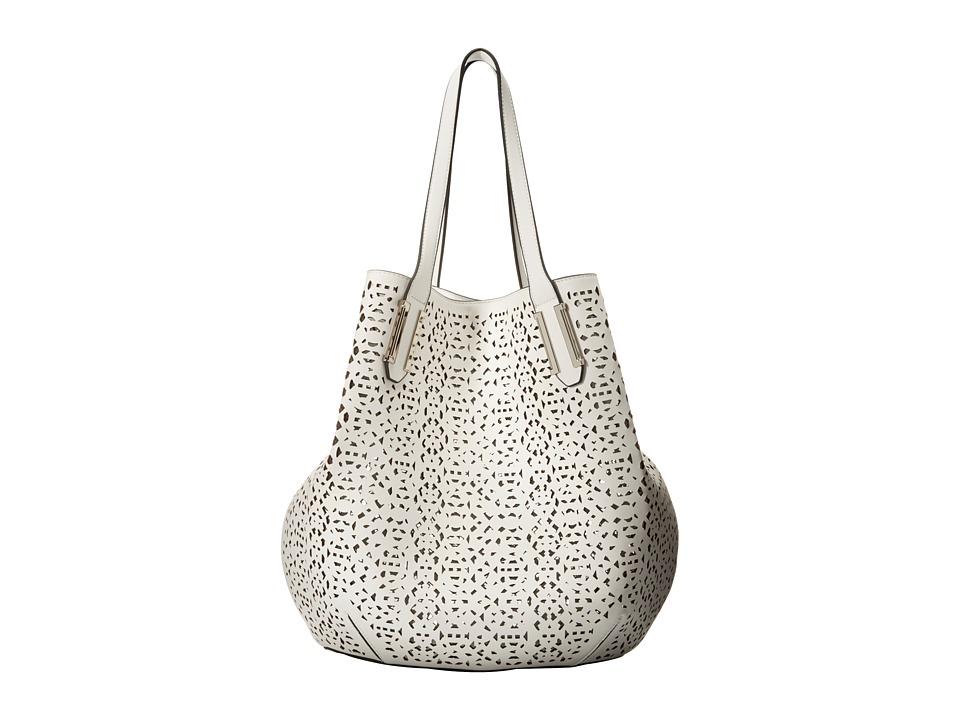 Ivanka Trump - Hudson Double Shoulder (White Lasercut Non Leather) Shoulder Handbags