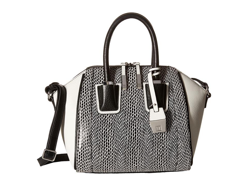 Ivanka Trump - Dorado Satchel (Black Graphic Snake Leather) Satchel Handbags