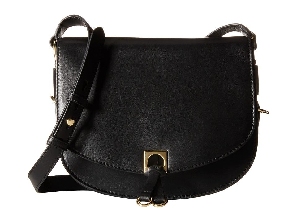 Ivanka Trump - Claudia Saddle Bag (Black Smooth Nappa Leather) Bags