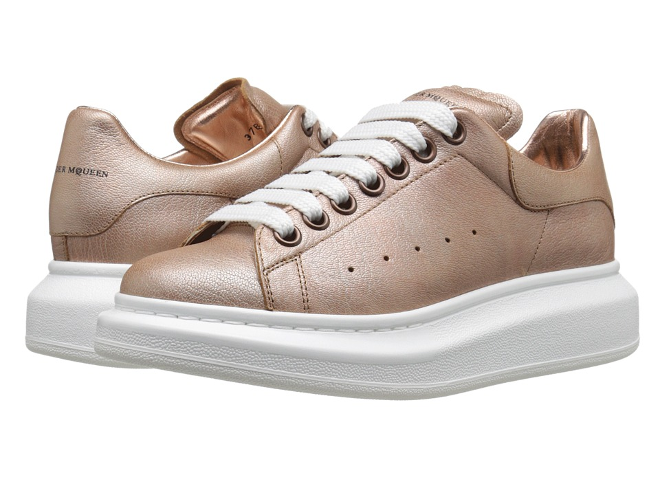 Alexander McQueen Sneaker Pelle S.Gomma Copper Womens Lace up casual Shoes