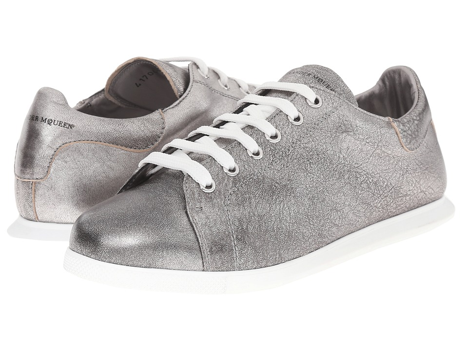 Alexander McQueen Sneaker Pelle S.Gomma Silver Womens Lace up casual Shoes