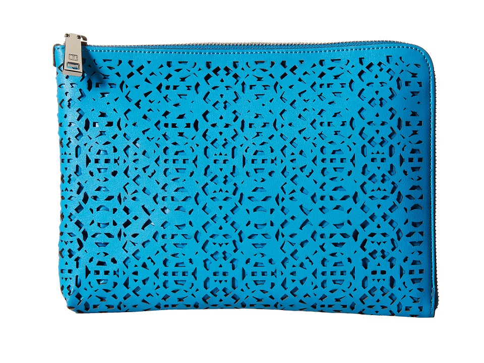 Ivanka Trump - Rio Tech Sleeve (Vivid Blue Lasercut Non Leather) Clutch Handbags