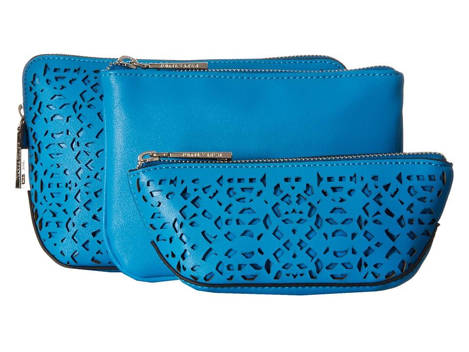 Ivanka Trump - Rio Nesting Cosmetic Cases (Vivid Blue Lasercut Non Leather) Cosmetic Case