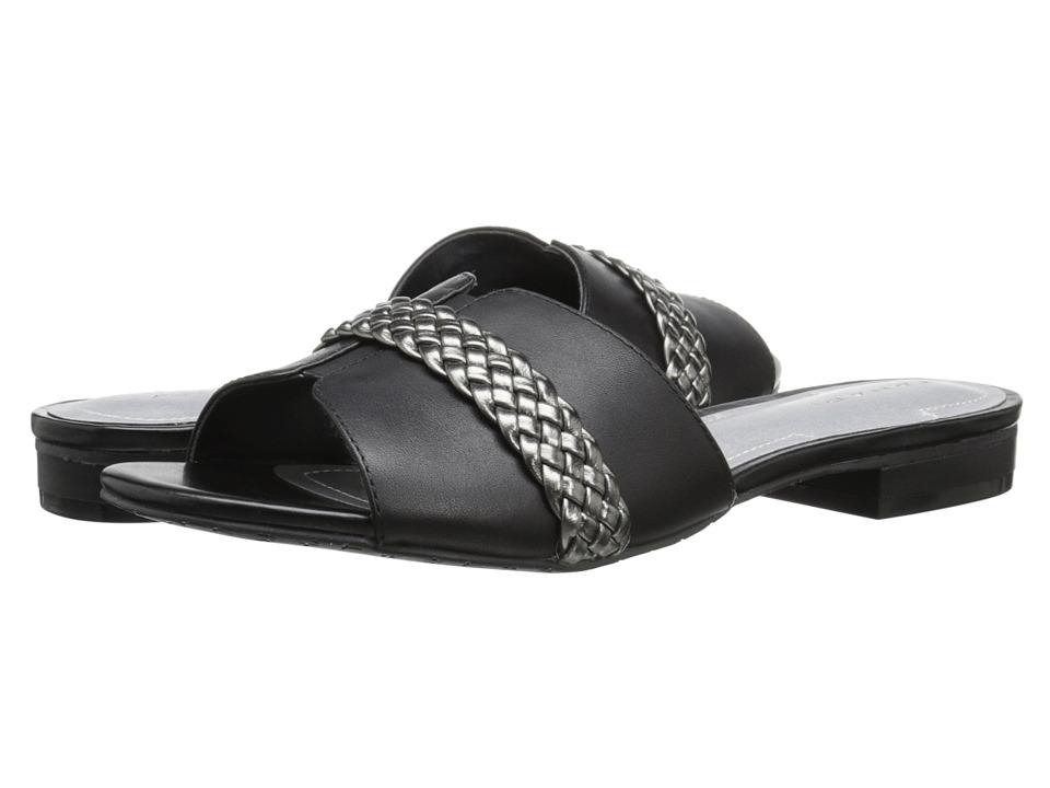 Tahari Amorie Black/Pewter Calf/Metallic Womens Shoes
