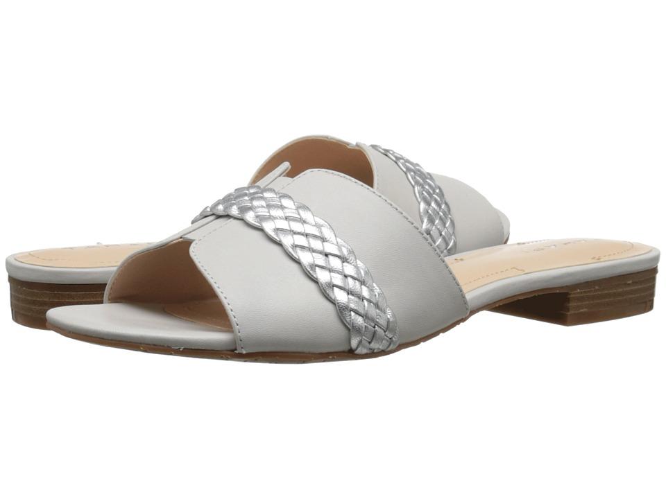 Tahari Amorie White/Silver Calf/Metallic Womens Shoes