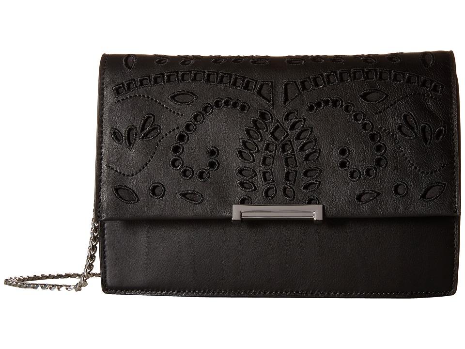 Ivanka Trump - Mara Cocktail Bag (Black Eyelet Leather) Bags