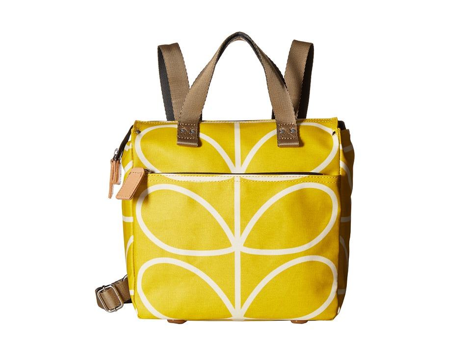 Orla Kiely Giant Linear Stem Small Backpack Dandelion Backpack Bags
