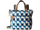 Orla Kiely Poppy Cat Print Small Backpack (Powder Blue)