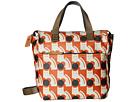 Orla Kiely Poppy Cat Print Small Backpack (Persimmon)