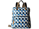 Orla Kiely Poppy Cat Print Backpack Tote (Powder Blue)