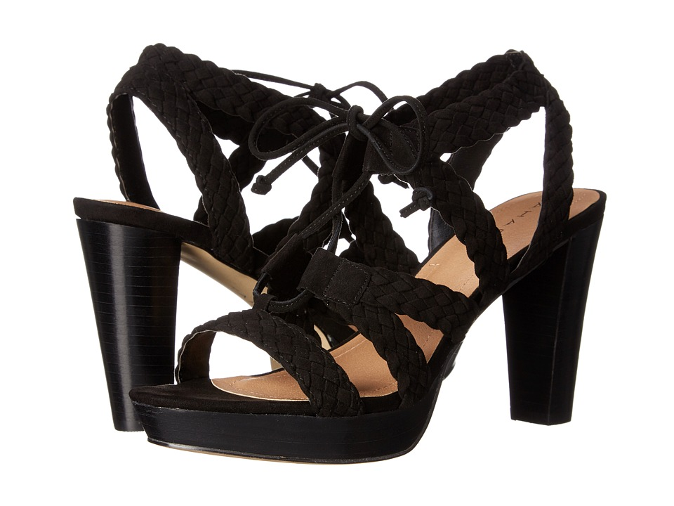 Tahari Denny Black Suede Womens Shoes