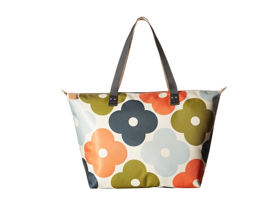 Orla Kiely Giant Flower Spot Print Zip Shopper Multi Tote Handbags