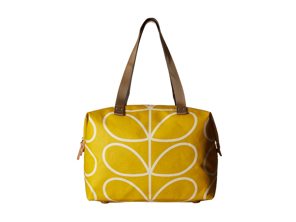 Orla Kiely Giant Linear Stem Zip Shopper Dandelion Tote Handbags