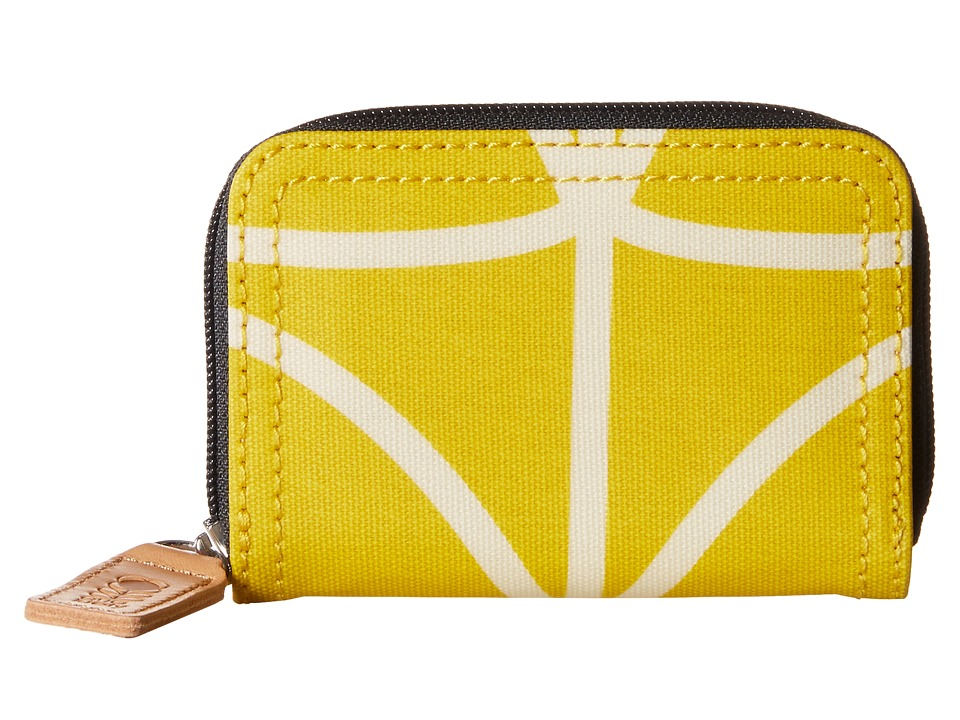 Orla Kiely Giant Linear Stem Small Medium Zip Wallet Dandelion Wallet Handbags