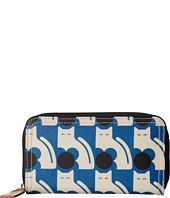 Orla Kiely - Poppy Cat Print Big Zip Wallet