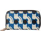 Orla Kiely Poppy Cat Print Big Zip Wallet (Powder Blue)