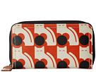 Orla Kiely Poppy Cat Print Big Zip Wallet (Persimmon)