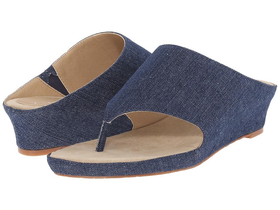 Tahari Mindy Blue Denim Womens Sandals