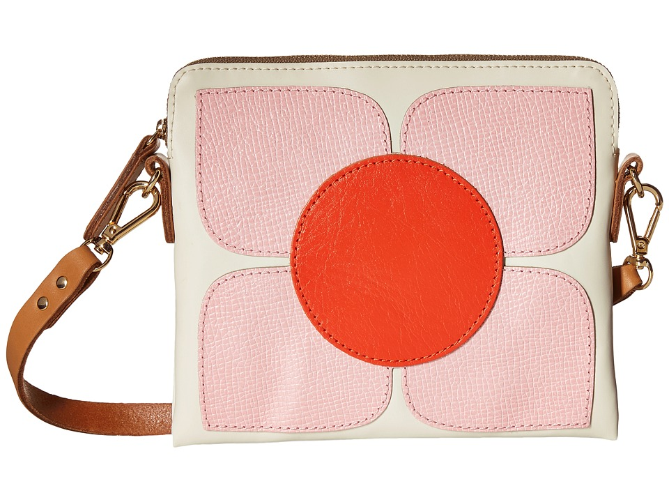 Orla Kiely Square Flower Applique Square Poppy Bag Cream Bags