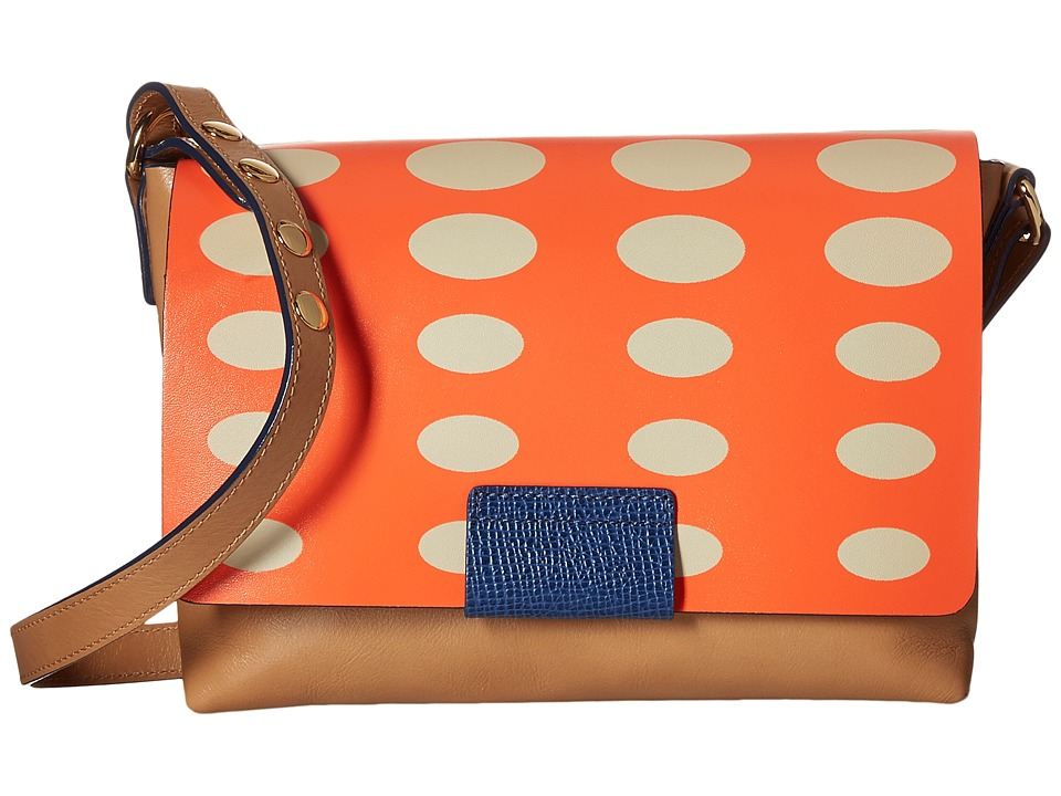 Orla Kiely Oval Printed Robin Bag Orange Bags