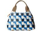 Orla Kiely Poppy Cat Print Classic Zip Shoulder (Powder Blue)