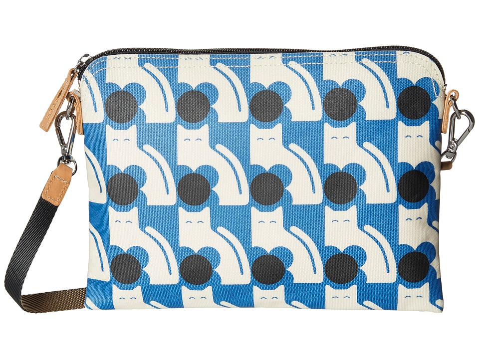 Orla Kiely - Poppy Cat Print Travel Pouch (Powder Blue) Travel Pouch