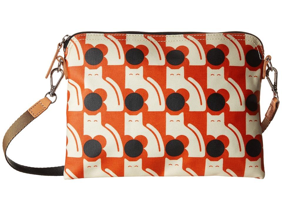 Orla Kiely Poppy Cat Print Travel Pouch Persimmon Travel Pouch